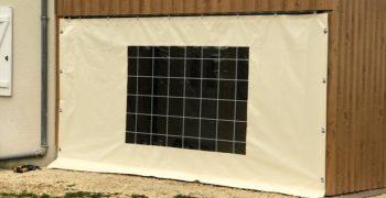 Desmazes Thiviers - Fabrication de porte en bâche pour protéger terrasse