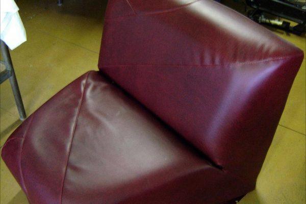 Fauteuil cuir rénové
