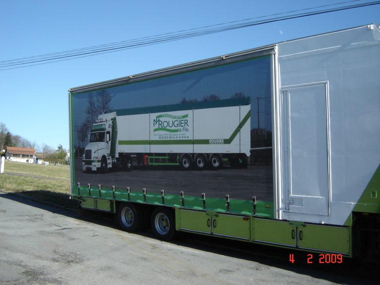 Bâche camion Thiviers Desmazes